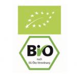 Das EU-Bio-Logo (oben = neu / unten = alt, immer noch verwendet) garantiert EU-weit gültige Rechtsvorschriften für ökologischen Landbau.