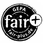 fair + Zeichen der GEPA = Mehr, als die allgemeinen Fair-Handelskriterien verlangen.